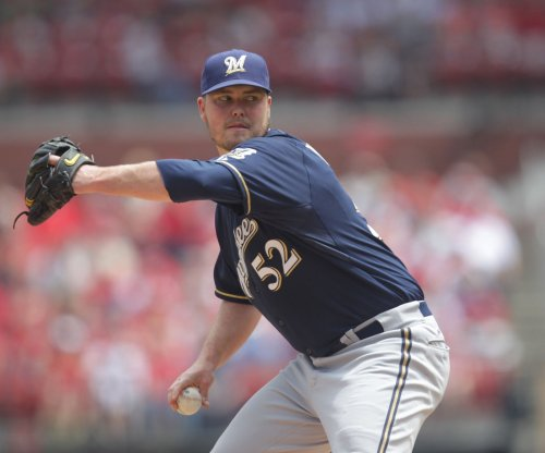 Milwaukee Brewers' Jimmy Nelson takes liner to head in loss to St. Louis Cardinals