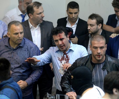 Protesters storm Macedonia parliament after Albanian elected as speaker