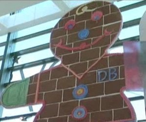 Man creates 26-foot-tall gingerbread man