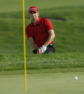 Garcia shares lead in first playoff event