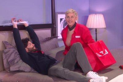 Jamie Dornan, Ellen DeGeneres spoof 'Fifty Shades Darker'