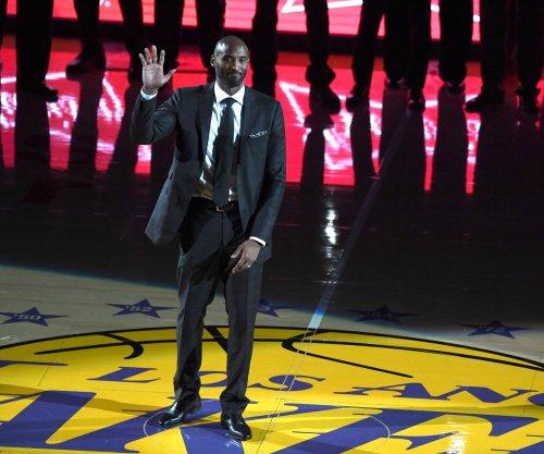 Golden State Warriors edge Los Angeles Lakers on Kobe Bryant jersey retirement night