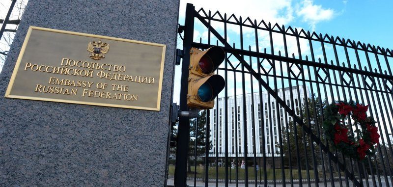 Russian Federation Embassy is like Fort Apache on Wisconsin