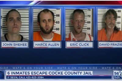 Four inmates on the loose in Tennessee after escaping county