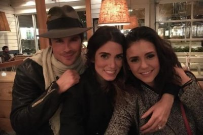 Nina Dobrev poses with ex Ian Somerhalder, Nikki Reed