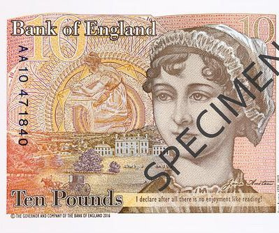 Jane Austen to be featured on Britain's £10 polymer banknote