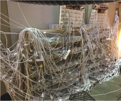 Police find mess of cables and surge protectors powering marijuana grow-op