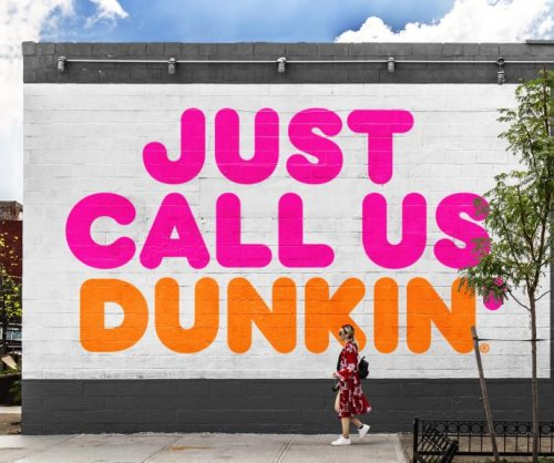 Dunkin' drops 'donuts' from name