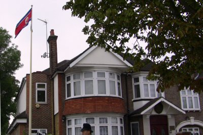 North Korea defectors send anti-Kim flyers into London embassy compound