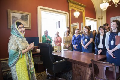 Malala Yousafzai lobbies on Capitol Hill for global education funding