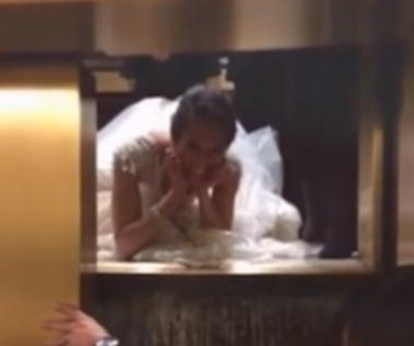 Bride gets trapped in elevator on way to reception