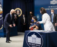 Watch live: Biden, Harris mark 50 million COVID-19 vaccinations in past month