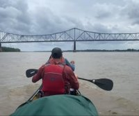 Canoe team seeking Mississippi River record faces bridge closure obstacles