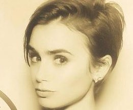 Lily Collins debuts pixie cut at Vanity Fair Oscars party