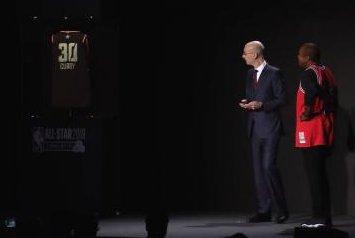NBA commissioner Adam Silver unveils futuristic jerseys