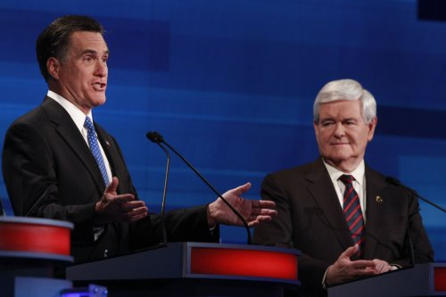 Romney, Gingrich virtually even in Fla.