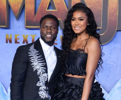 Kevin Hart, Eniko Parrish attend 'Jumanji: The Next Level' premiere