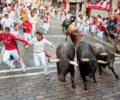 Three gored, 10 injured in annual Running of the Bulls event in Spain