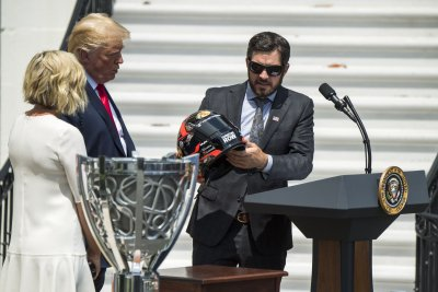 Watch live: Donald Trump meets NASCAR champ Martin Truex Jr.