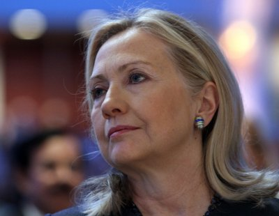 Clinton defends State Department budget