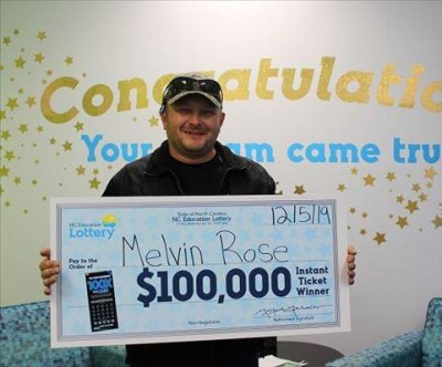 Clerk's mistake wins North Carolina visitor a $100,000 lottery prize