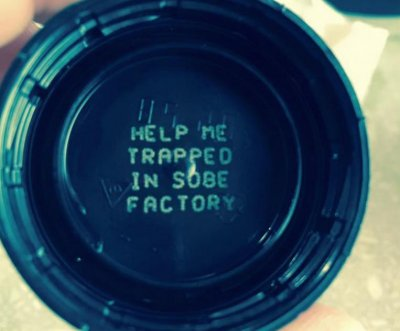 SoBe apologizes for alarming bottle cap message