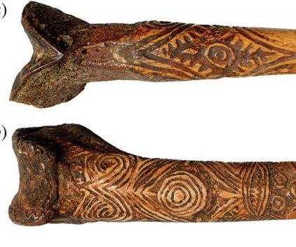 New Guinea warriors wielded daggers carved from the femurs of their fathers