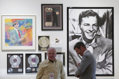 Items belonging to Frank Sinatra, wife shown ahead of auction next week