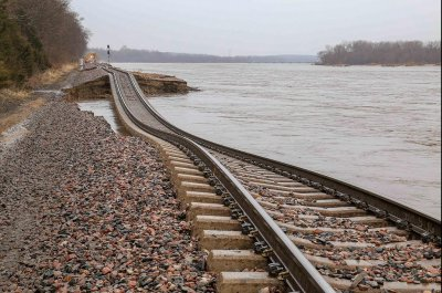 Midwest flooding washes out hundreds of miles of roads, rail lines