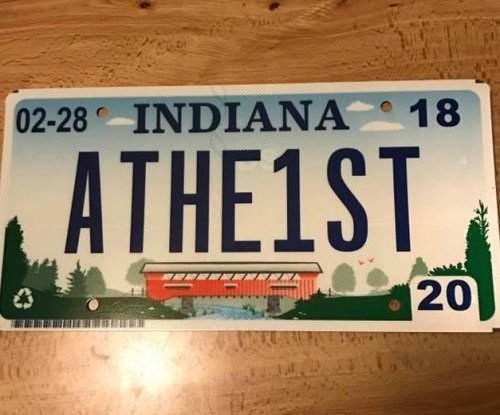 Indiana man gets 'ATHE1ST' license plate with help from ACLU