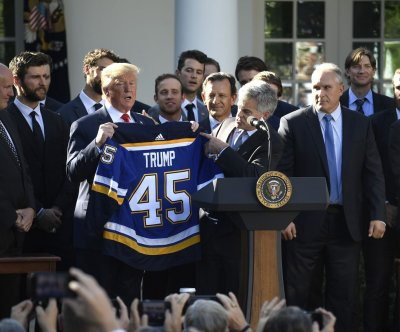 Watch live: Trump hosts NHL champion St. Louis Blues at White House