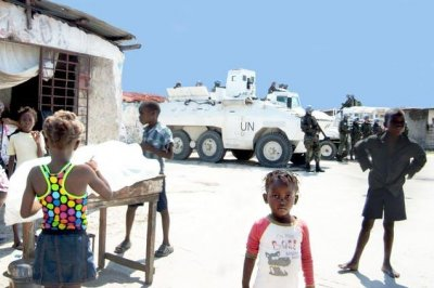 Departing U.N. troops leave Haiti damaged in their wake