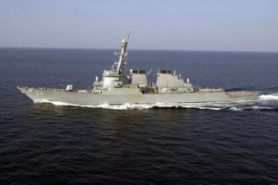 U.S. warships sail through disputed Taiwan Strait