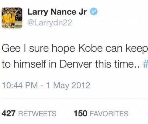 Kobe moving on from rookie's tweet