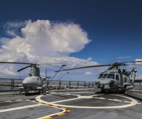 Manned, unmanned helos coordinate missile attack