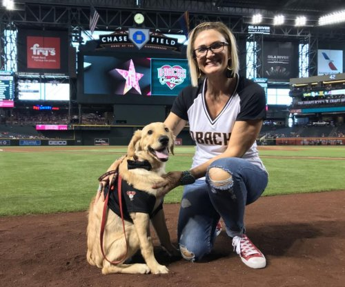 Diamondbacks honor dog that saved owner from rattlesnake