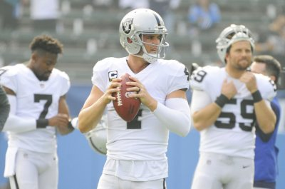 Oakland Raiders QB Derek Carr thankful to have WR Jordy Nelson in fold