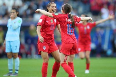Alex Morgan scores USA's first goal at Women's World Cup