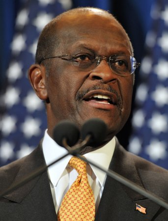 Cain jokes about Anita Hill