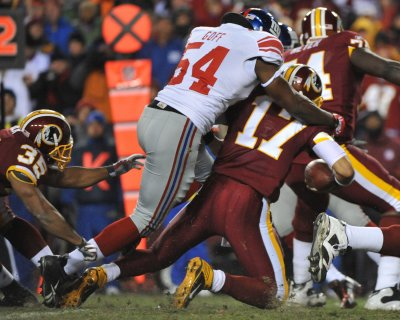 NFL: New York Giants 45, Washington 12