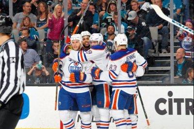 Edmonton Oilers blank San Jose Sharks again, grab series lead