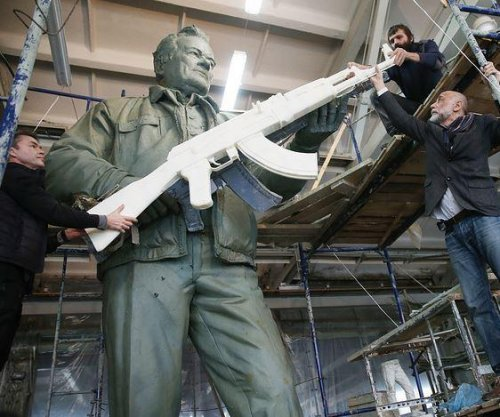 Russia honors AK-47 creator with 30-foot statue