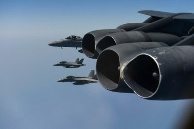 Aircraft from Lincoln CSG, B-52H conduct joint exercises in Arabian Sea