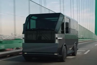 Electric vehicle startup Canoo unveils futuristic delivery van