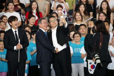 South Korea's Moon Jae-in calls for 'complete denuclearization' with incentives