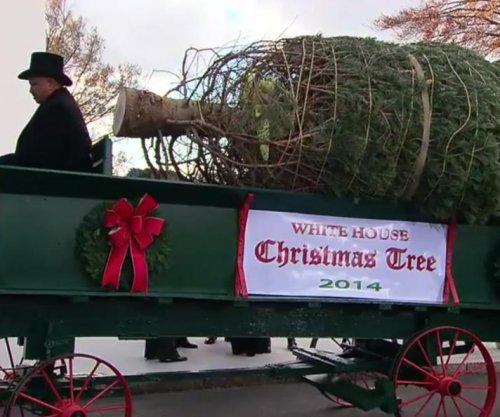 Christmas season opens at White House with arrival of tree