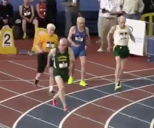 Orville Rogers: 100-year-old man sets world record in indoor track