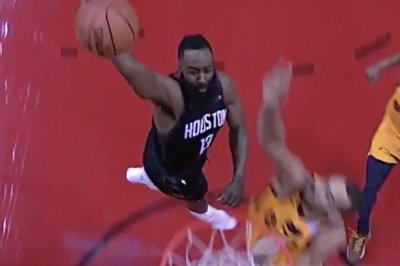 James Harden dunks in face of 7-footer Rudy Gobert