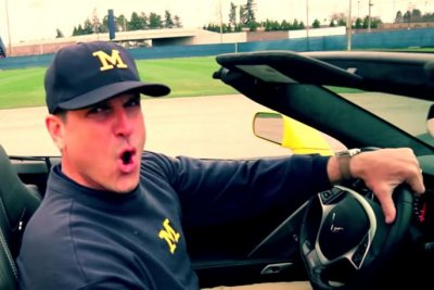 Michigan's Jim Harbaugh shows off pipes in rap music video