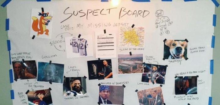 tom brady jersey suspect board